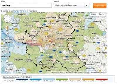 Mietspiegel deutschland tabelle 2016